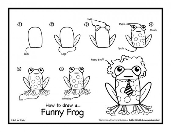How To Draw A Frog – Free Download