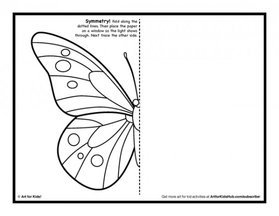 Line Drawing Activity : Symmetry art activity free coloring pages for kids