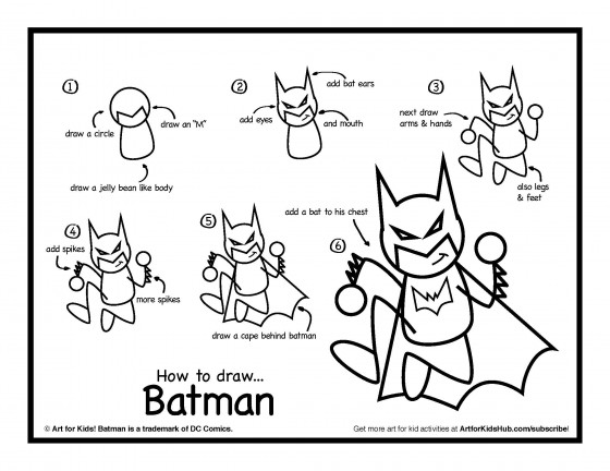 Download how to draw Batman
