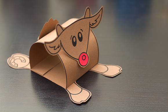 3D Rudolf Cutout Art Project