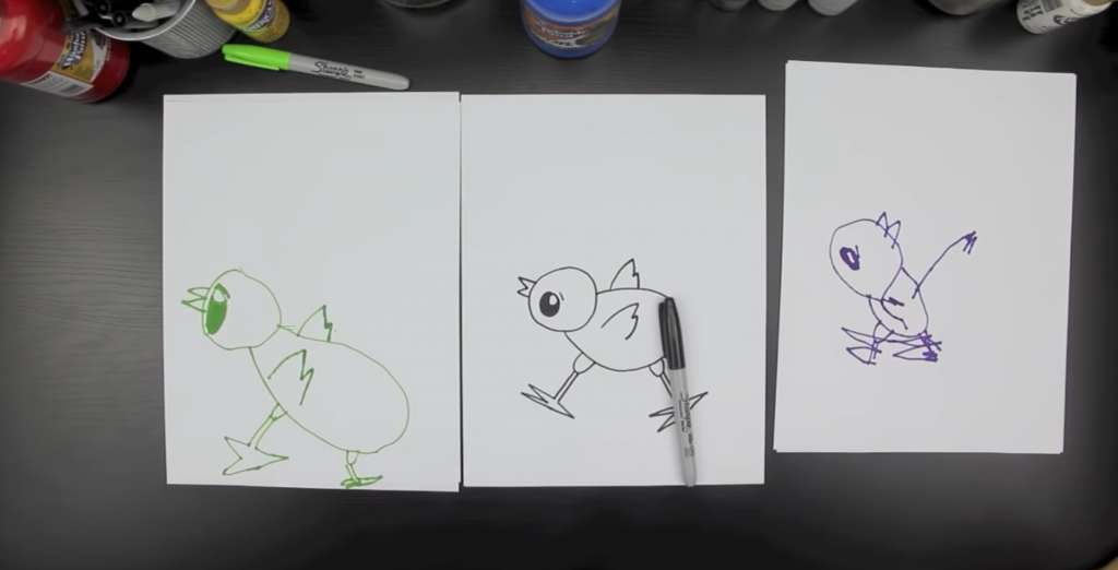 How To Draw A Baby Chick