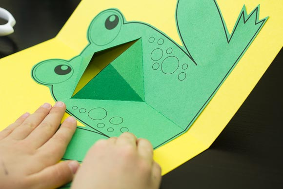 easy pop-up frog