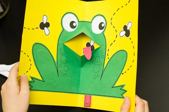 Easy PopUp Frog Art For Kids