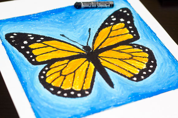 Oil Pastel Art Project – Monarch Butterfly