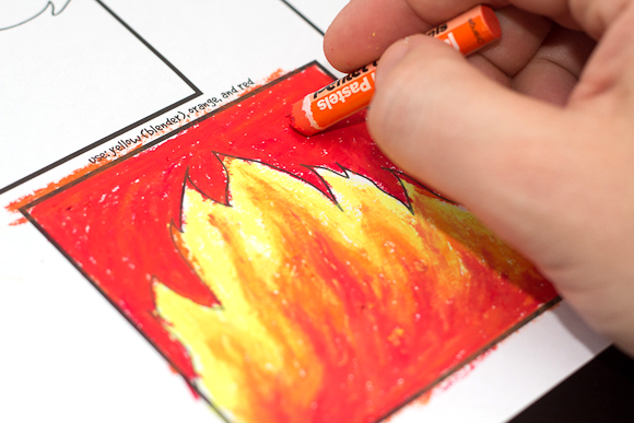 Intro To Pastels For Kids: How To Blend With Oil Pastels