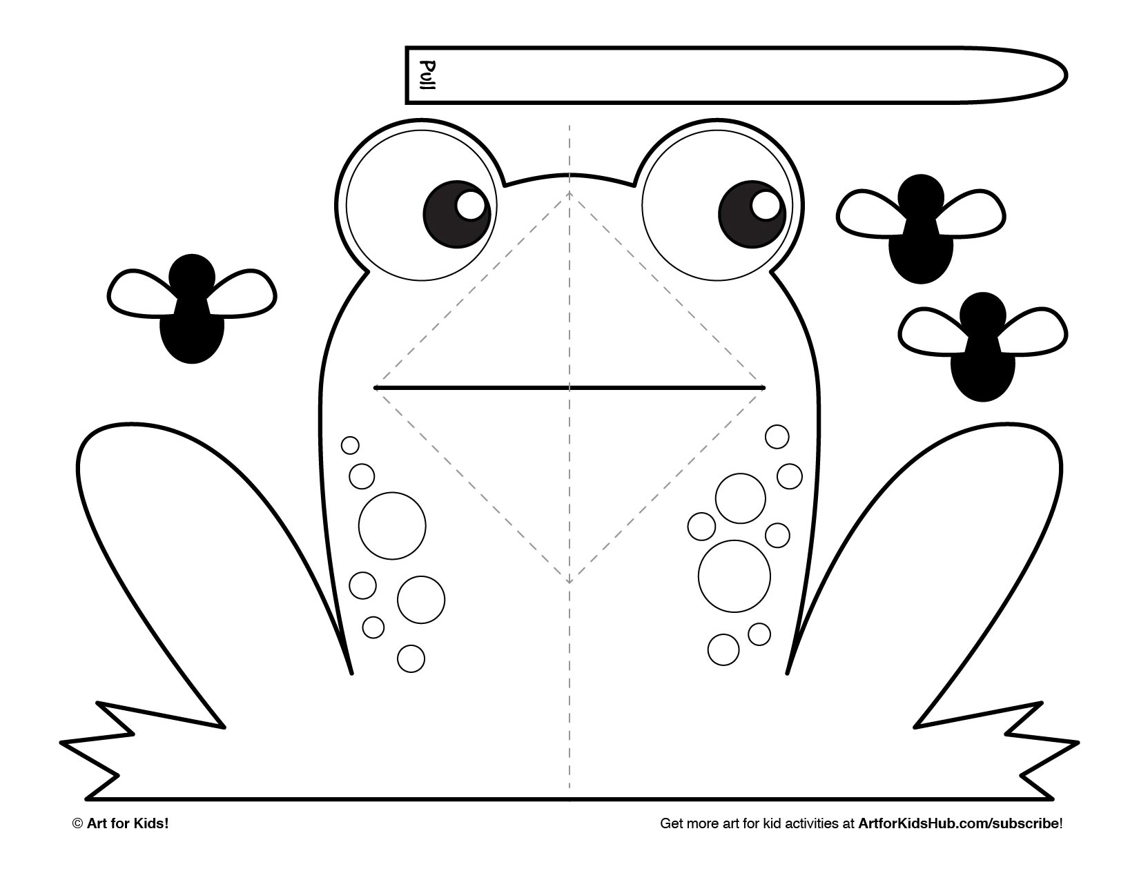 easy pop up frog art for kids hub