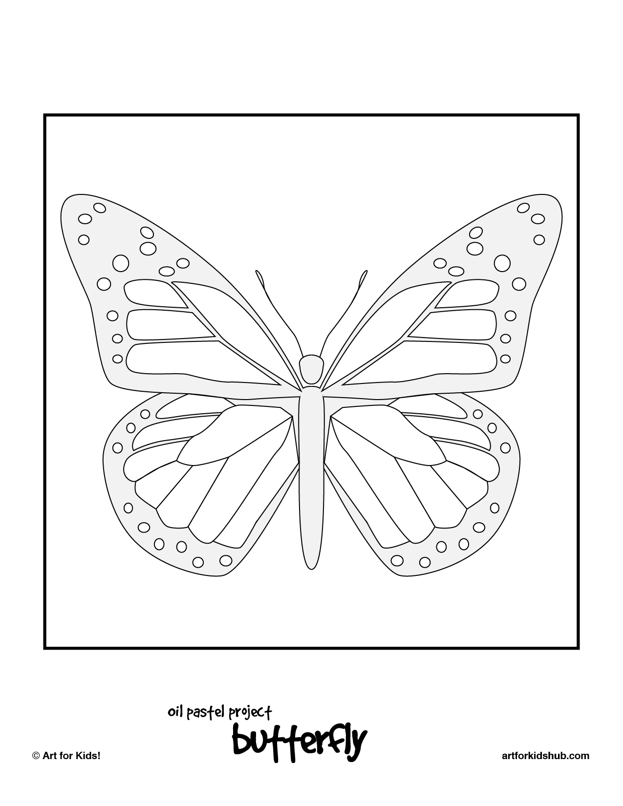 Printables Monarch Butterfly Worksheets oil pastel art project monarch butterfly for kids hub download and print the free image