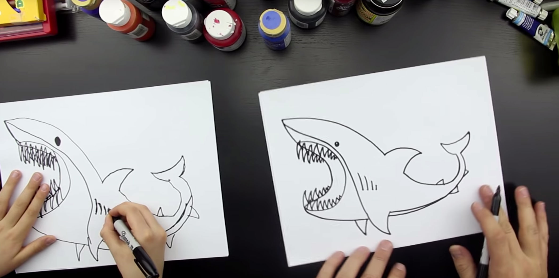 How To Draw A Shark Art For Kids Hub