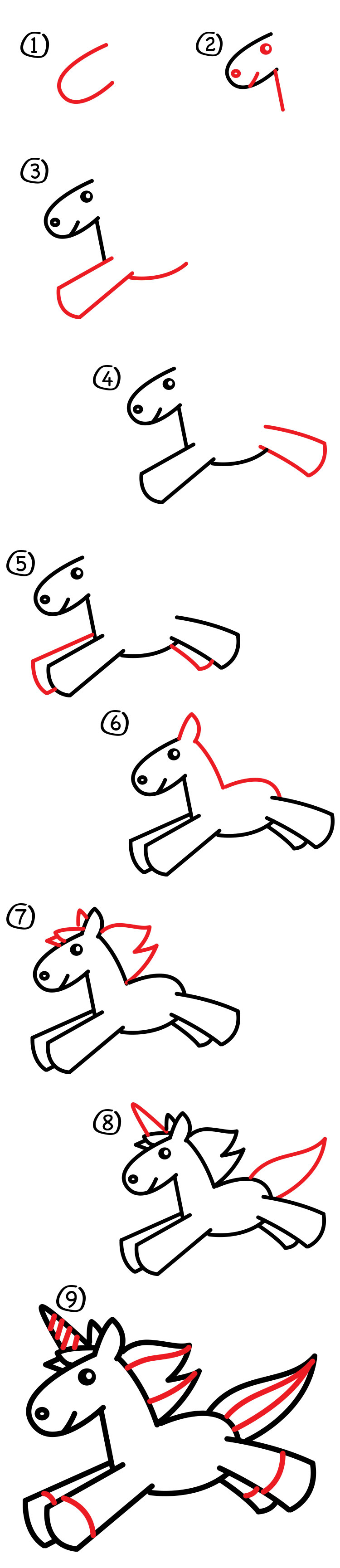 How To Draw A Unicorn For Kids