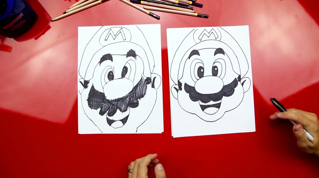 How To Draw Mario's Face