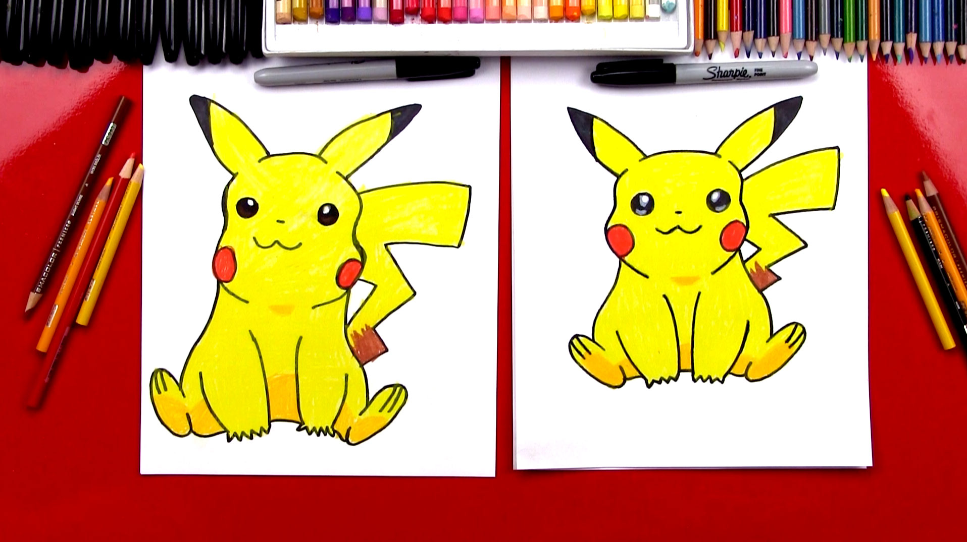How To Draw Pikachu - Art For Kids Hub