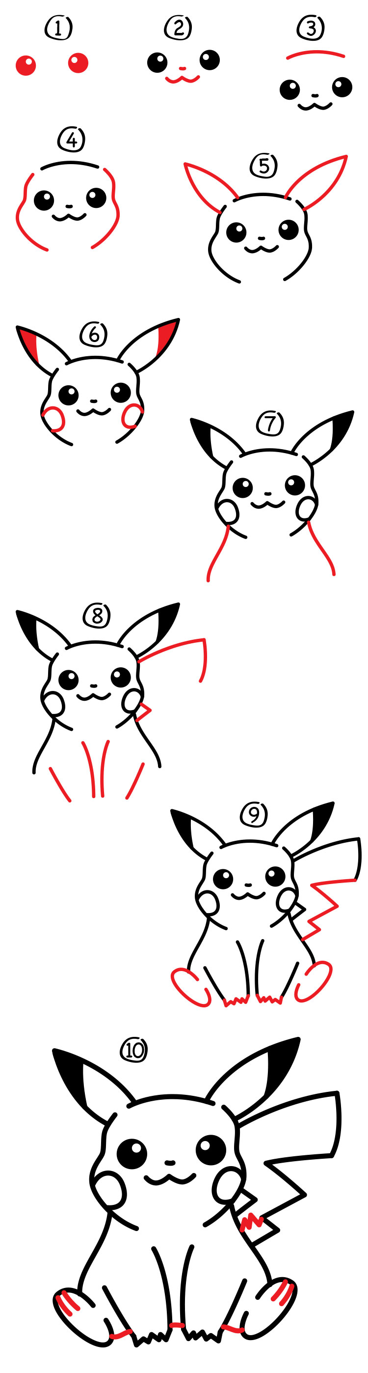 How To Draw Pikachu Art For Kids Hub