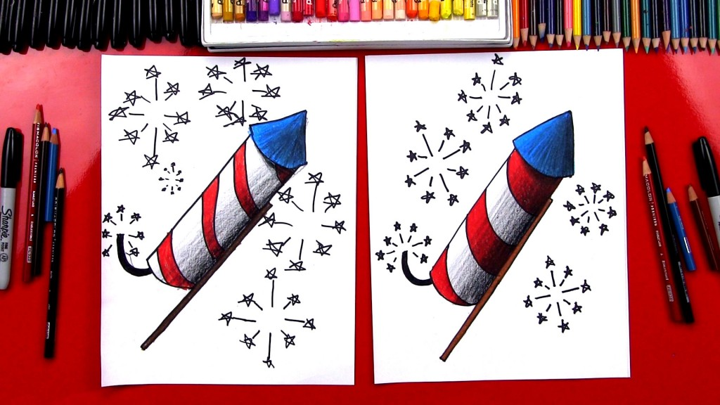 How To Draw A Firework Plus Shading