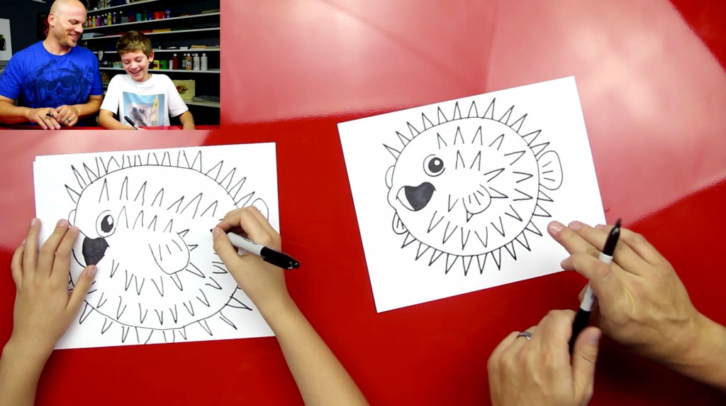 How To Draw A Blowfish