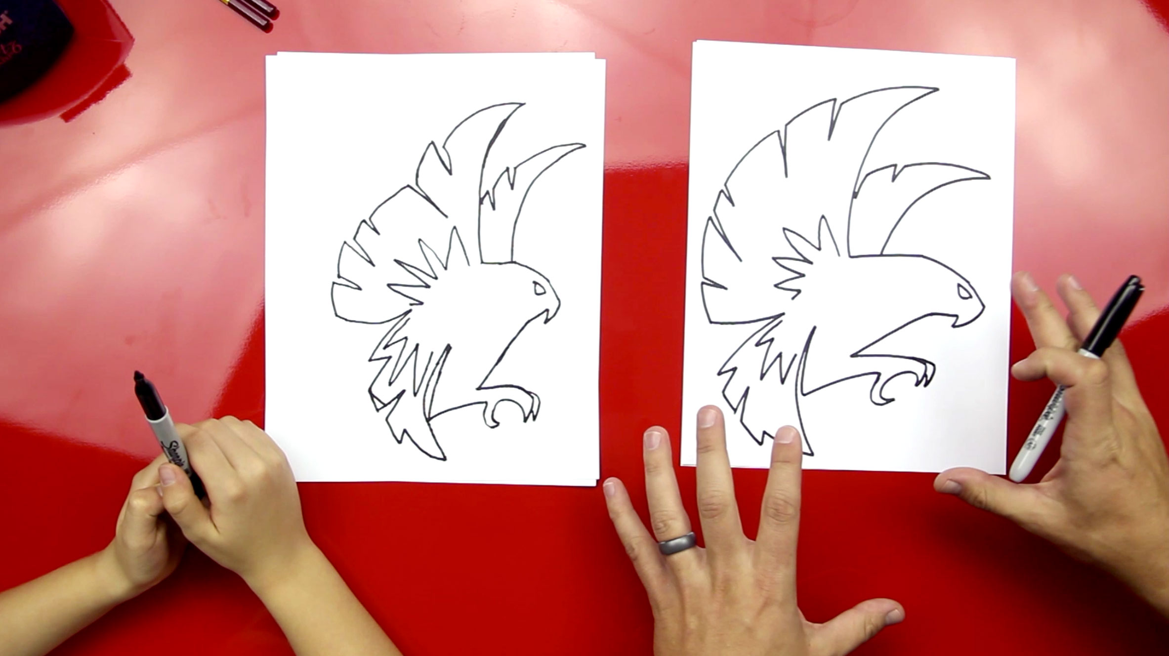 How To Draw A Falcon - Art For Kids Hub -