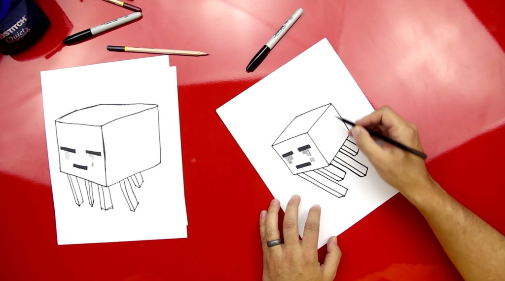 How To Draw A Ghast