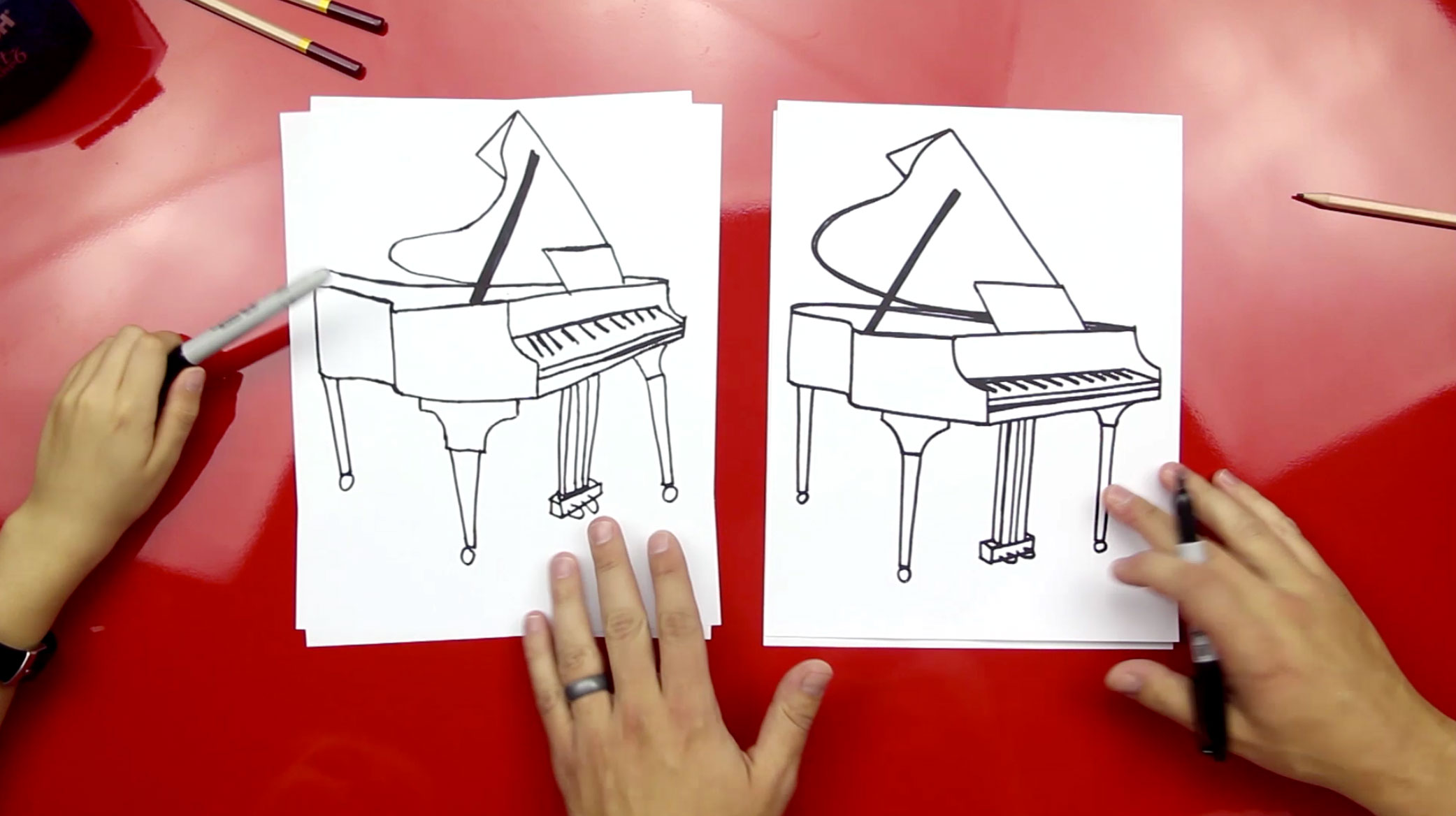How To Draw A Grand Piano Art For Kids Hub Here presented 55+ piano cartoon drawing images for free to download, print or share. how to draw a grand piano art for