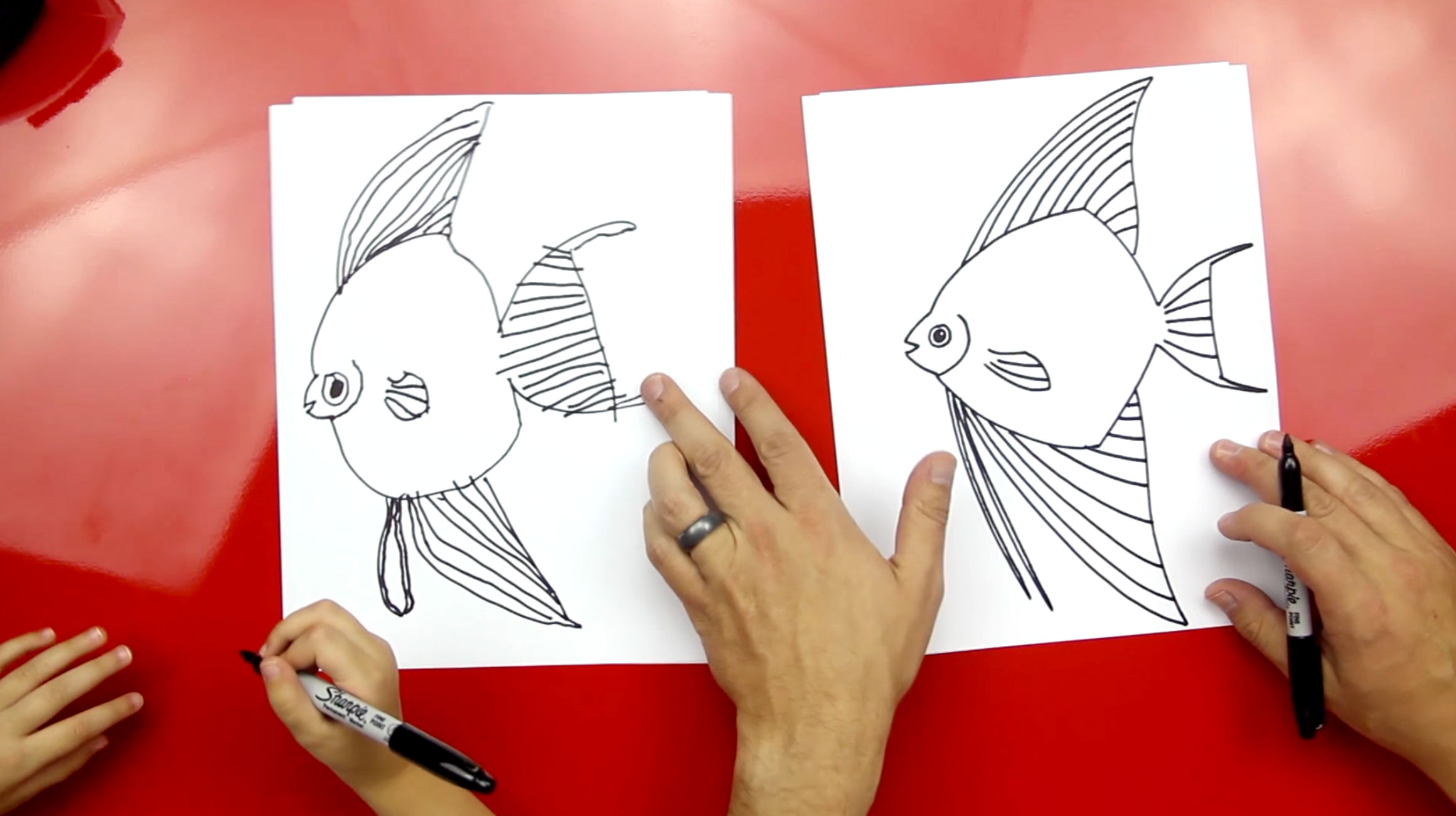 How To Draw An Angelfish - Art For Kids Hub -