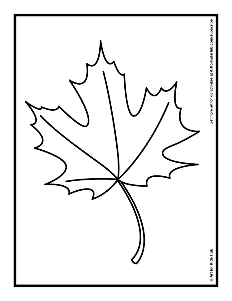 Coloring an autumn leaf with oil pastels art for kids hub for Autumn leaf template free printables