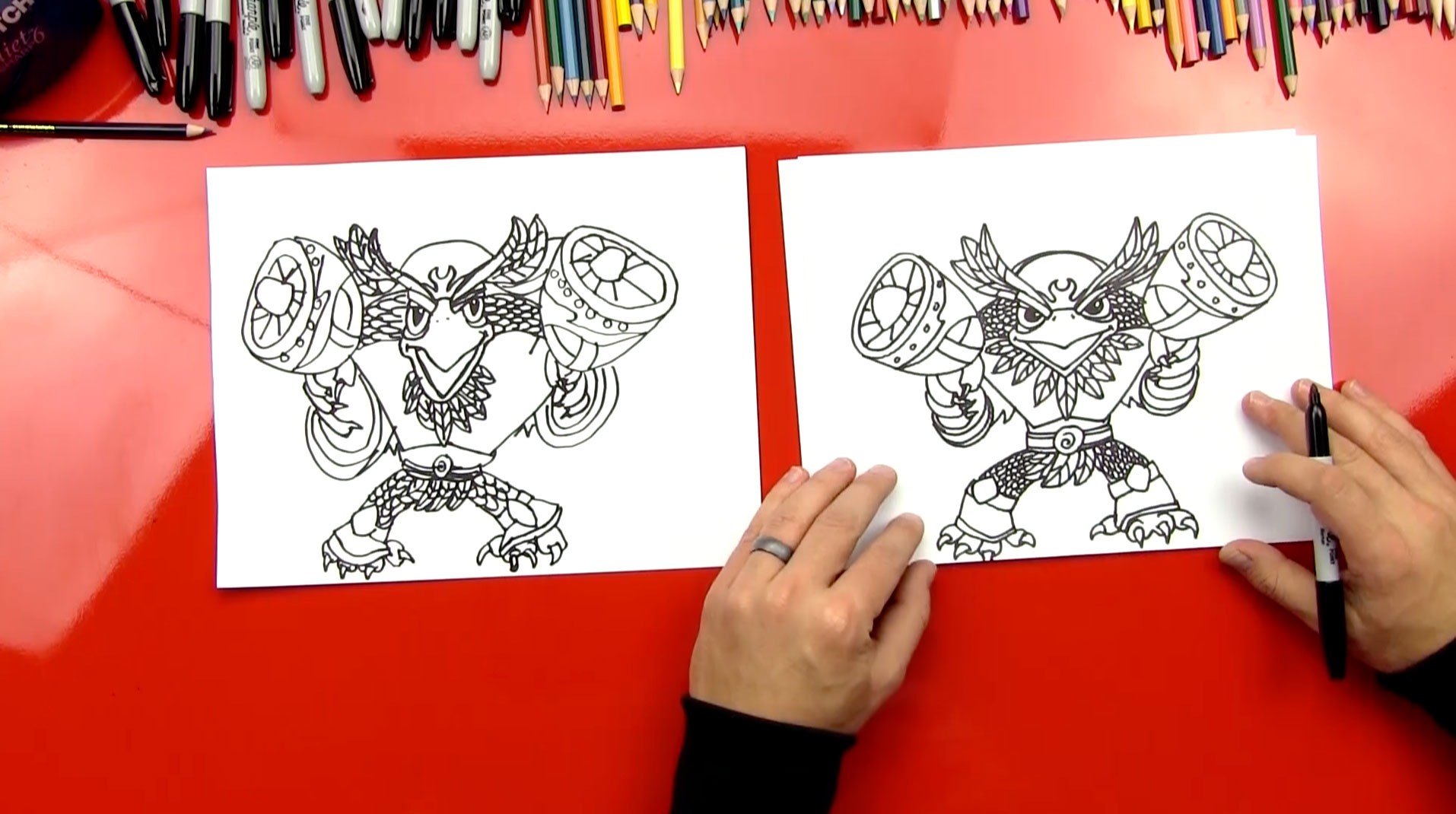 how to draw skylanders jetvac full blast