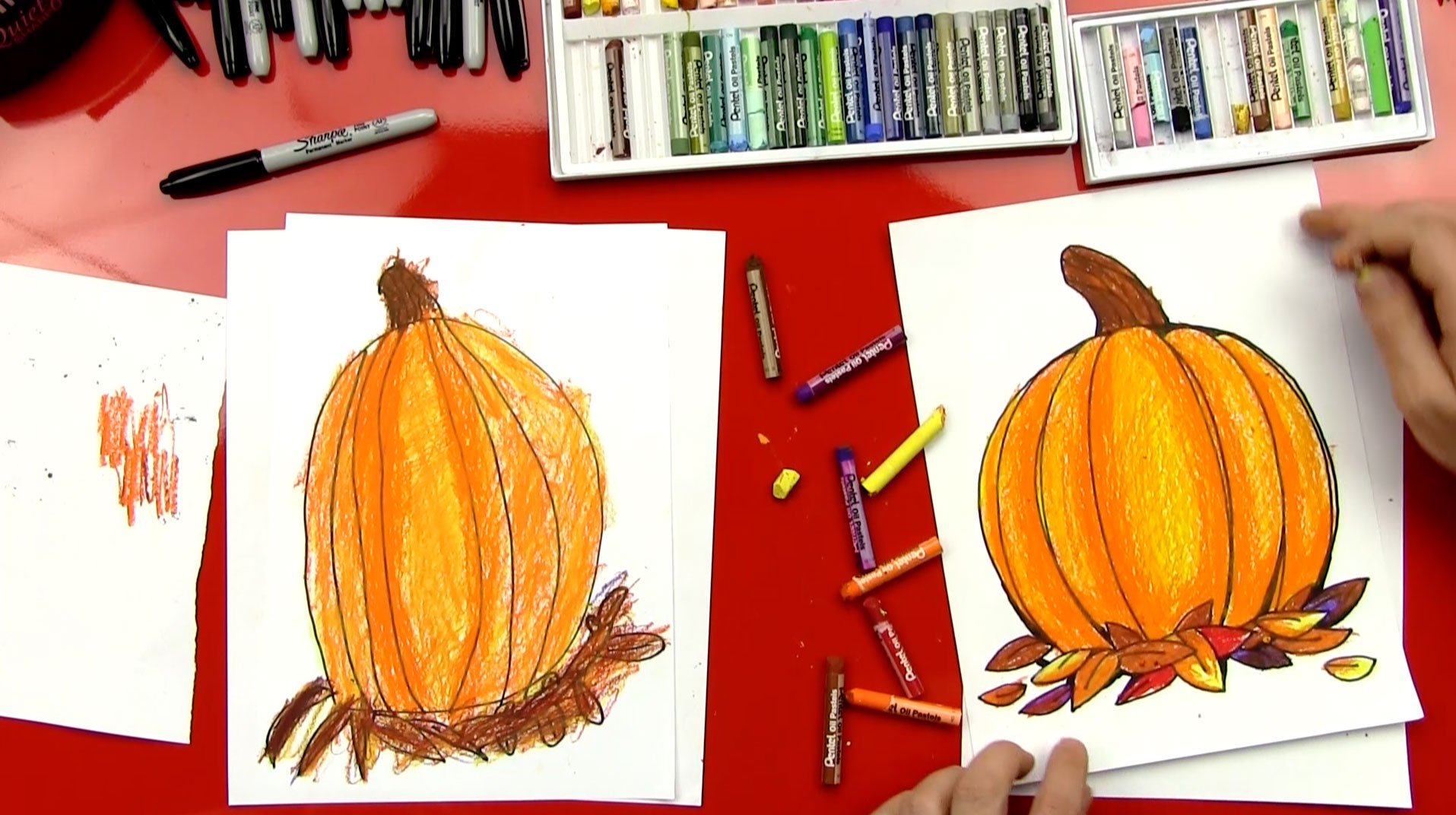 How To Draw A Pumpkin For Thanksgiving