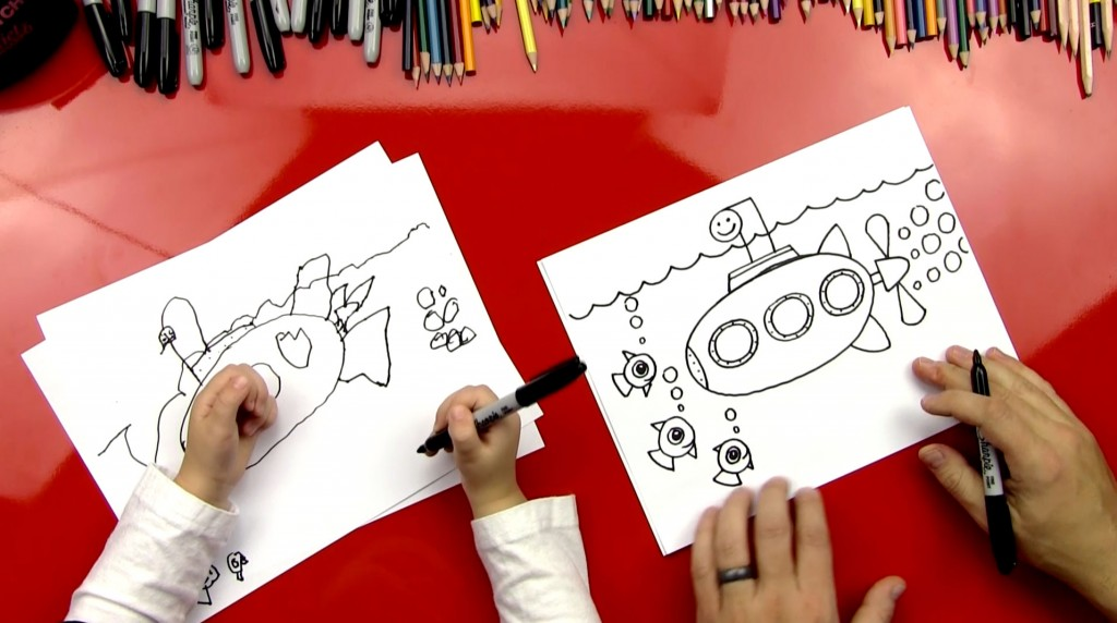 How To Draw A Submarine (For Young Artists)