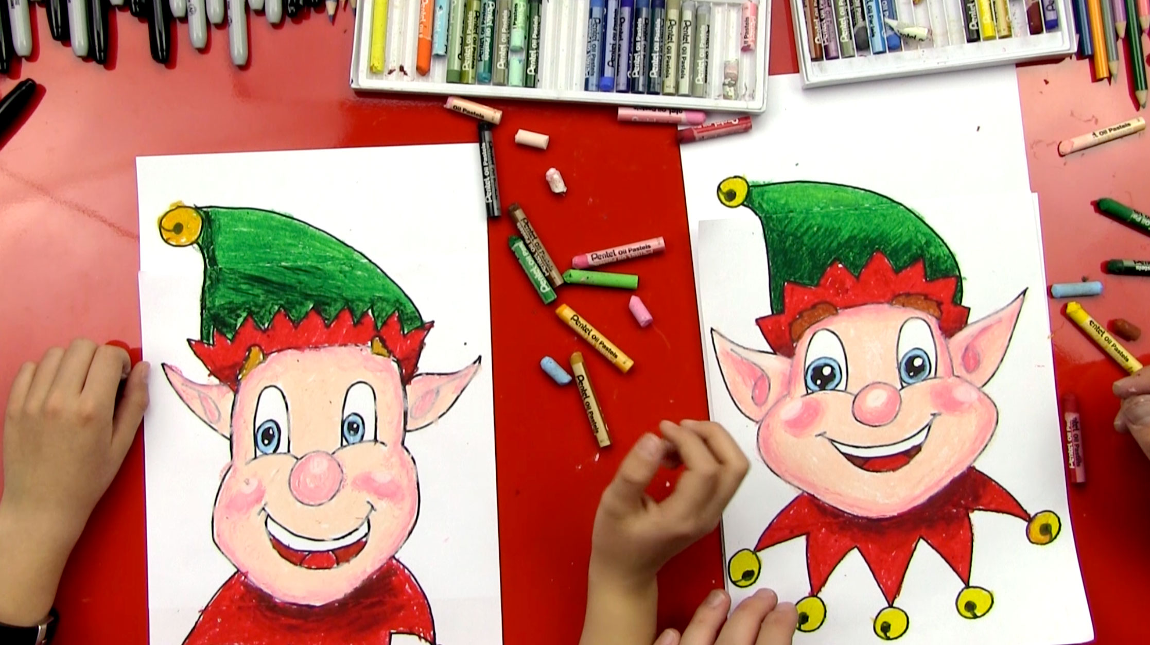 how to draw a christmas elf face art for kids hub