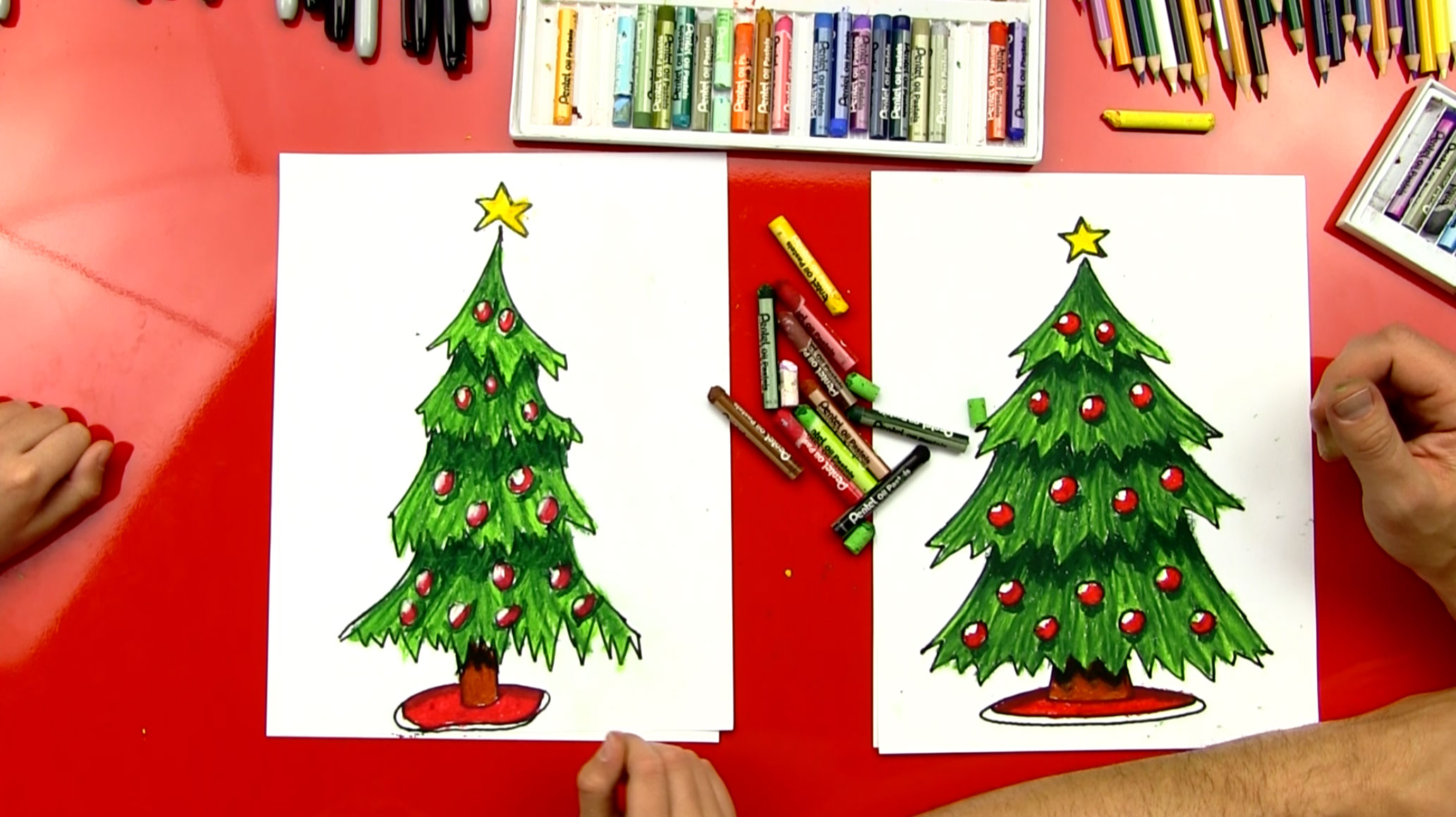 How To Draw A Christmas Tree Step By Step For Beginners.How To Draw A Christmas Tree Art For Kids Hub