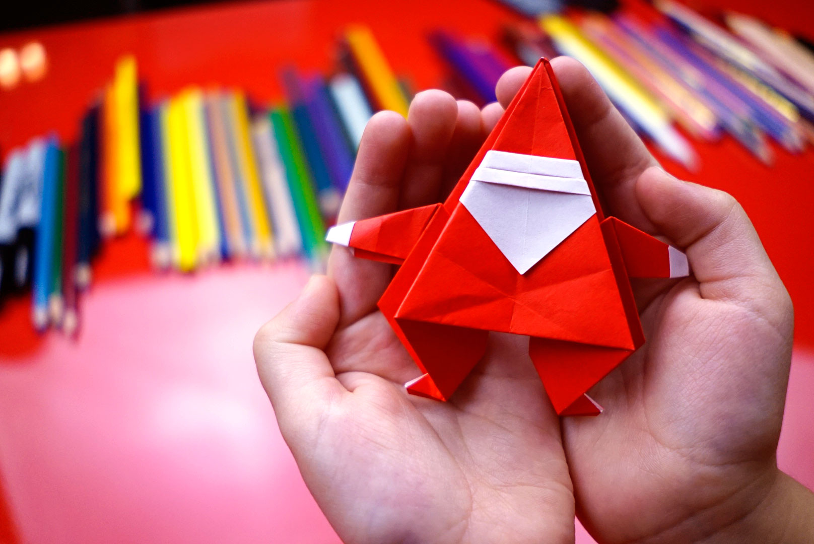 How To Fold An Origami Santa Claus Art For Kids Hub