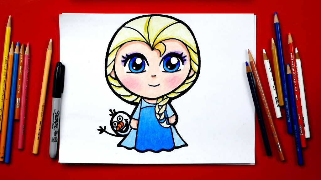 How To Draw Elsa From Frozen *NEW*