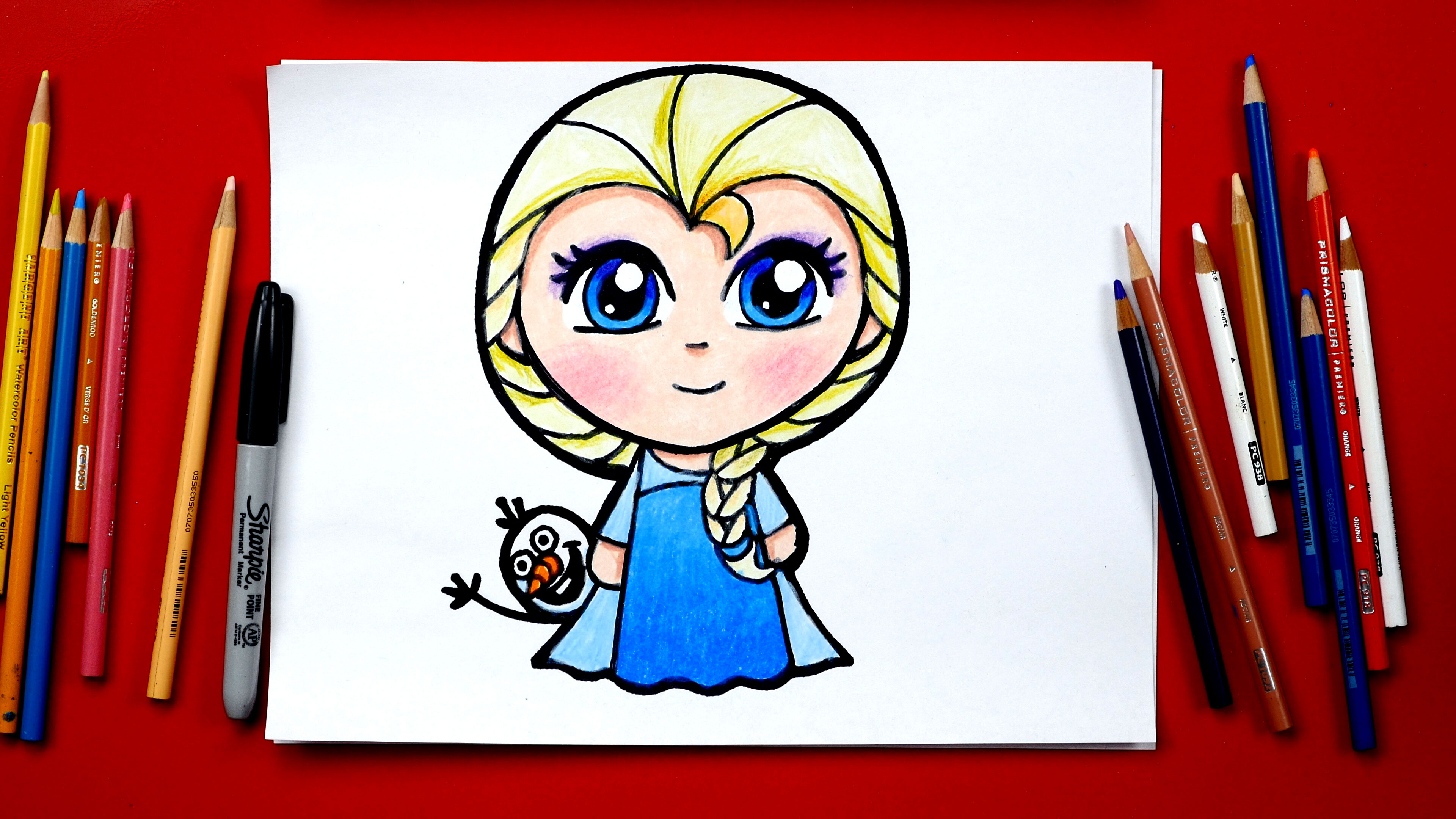 How To Draw Elsa From Frozen New Art For Kids Hub