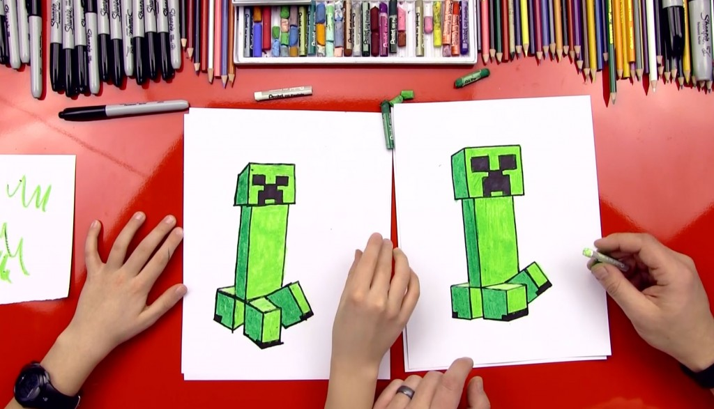 How To Draw A Creeper From Minecraft