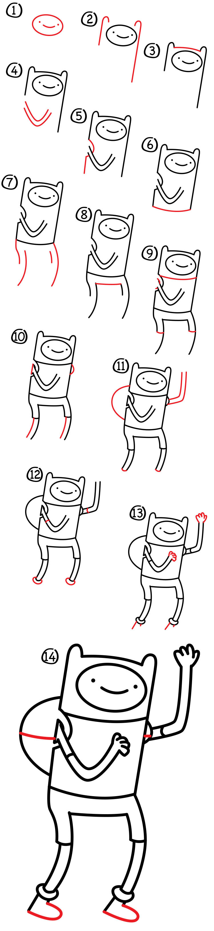 How To Draw Adventure Time Finn