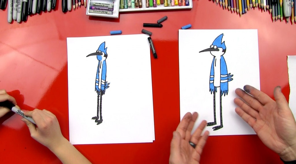 How To Draw Mordecai From The Regular Show