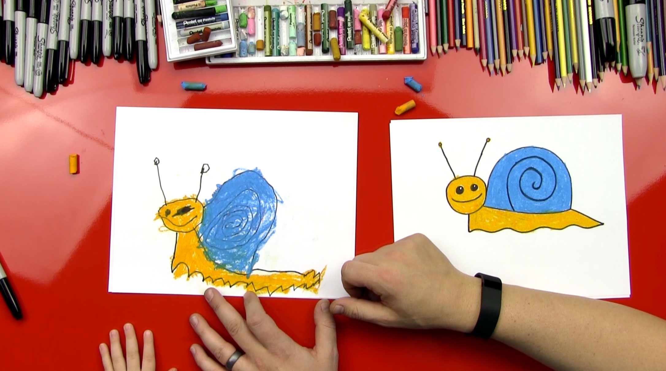 How To Draw A Snail For Young Artists Art For Kids Hub