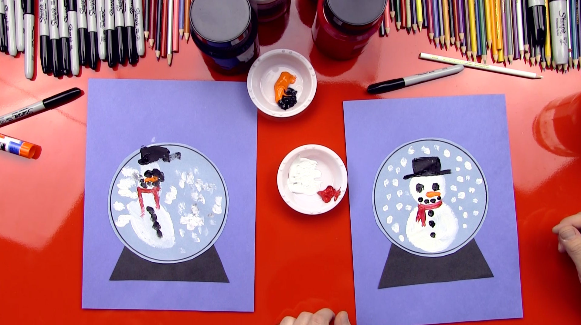 Snow Globe Art Project For Young Artists Art For Kids Hub