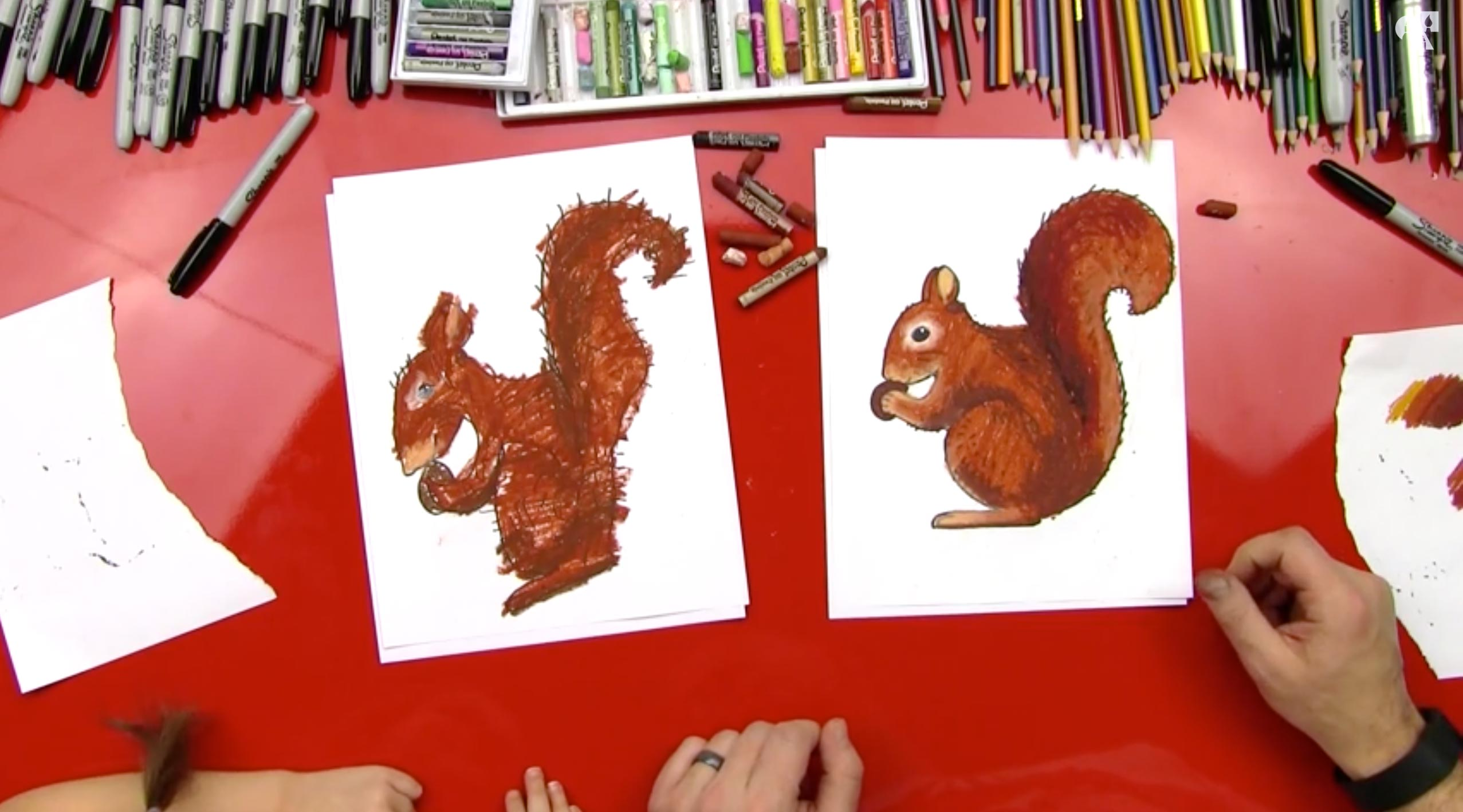 How To Draw A Squirrel Sya Art For Kids Hub