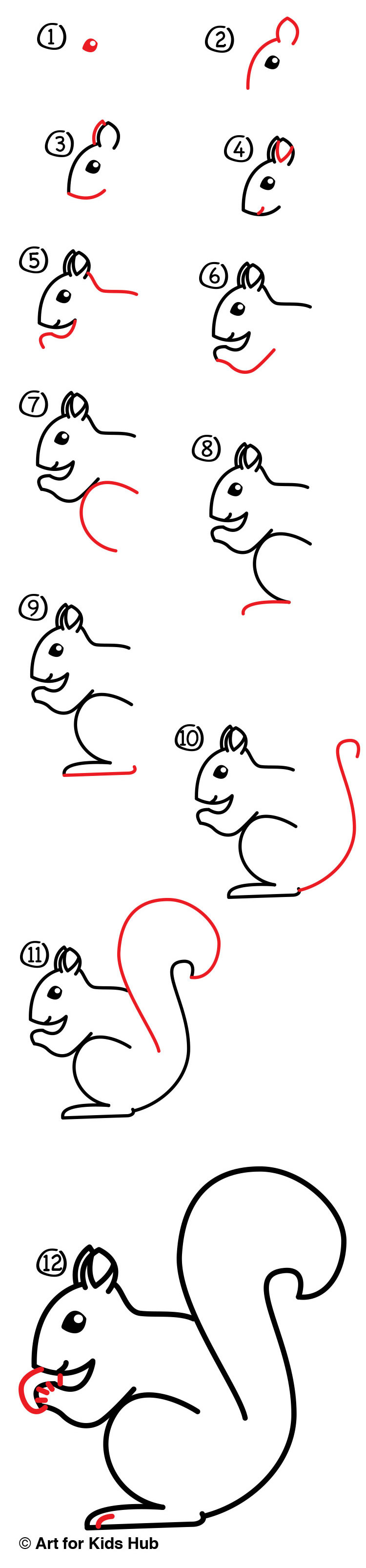 How to draw a squirrel 54