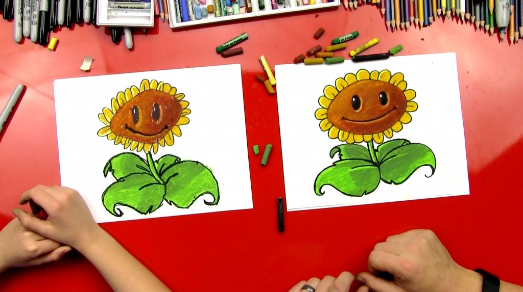 How To Draw A Sunflower From PvZ