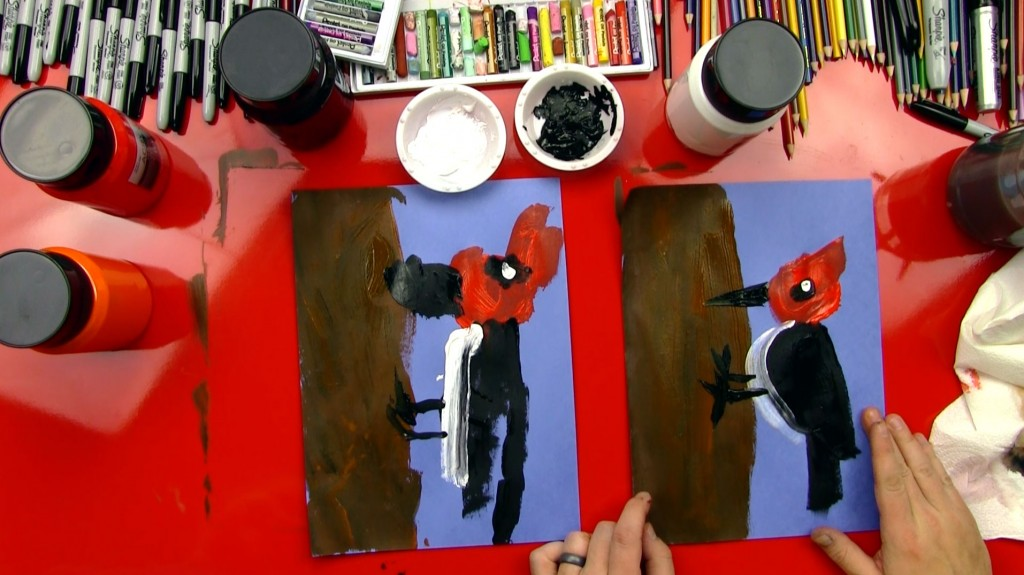How To Paint A Woodpecker (for young artists)