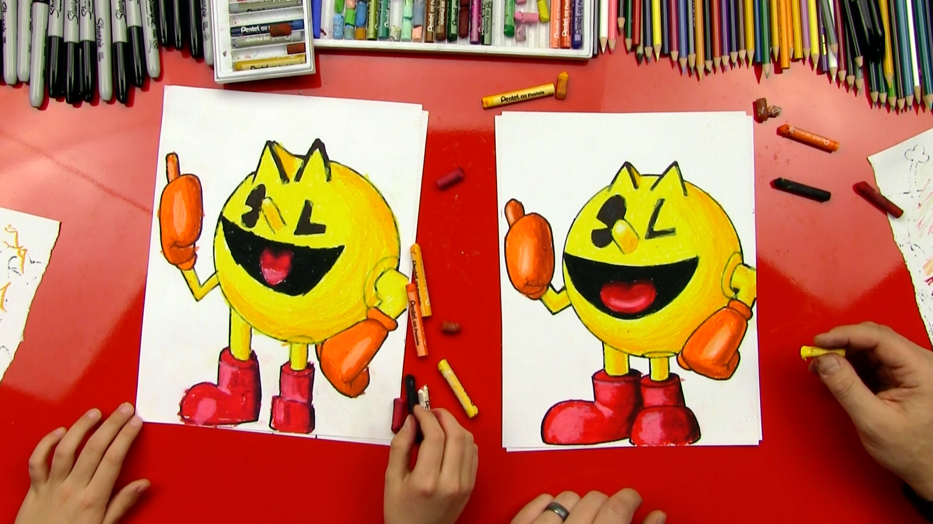 How To Draw Pac Man Art For Kids Hub