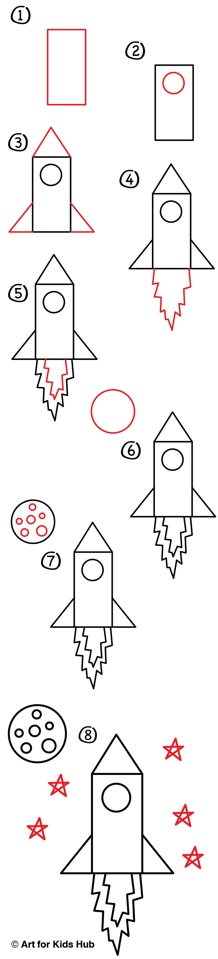 How to draw a rocket 39