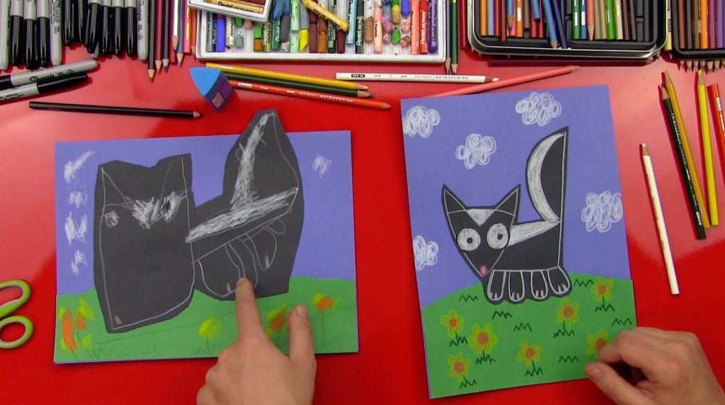 How To Draw A Skunk For Young Artists