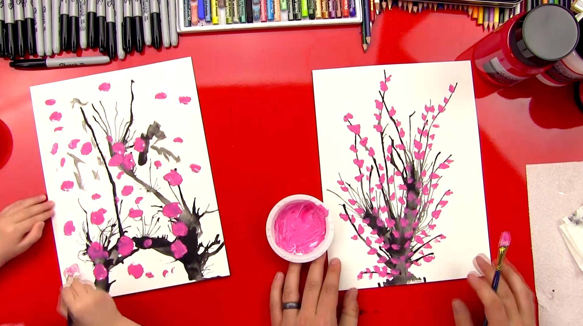 How To Paint Blossoms Art For Kids Hub
