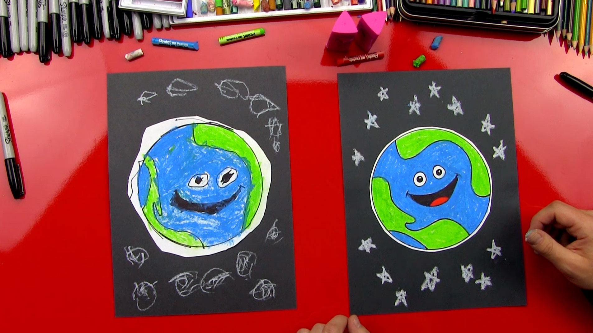 How To Draw Earth (for young artists) - Art For Kids Hub -