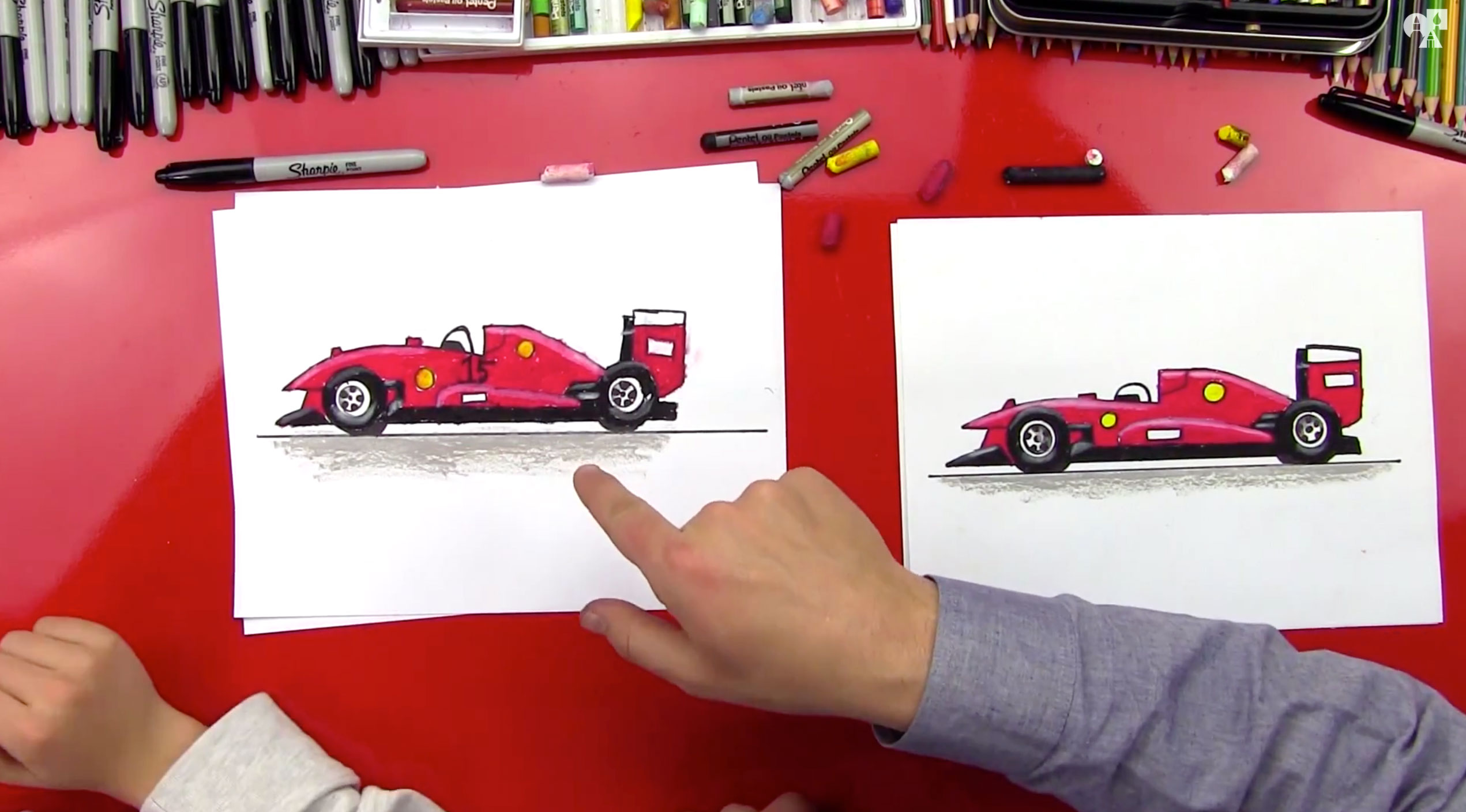 How To Draw A Race Car Art For Kids Hub
