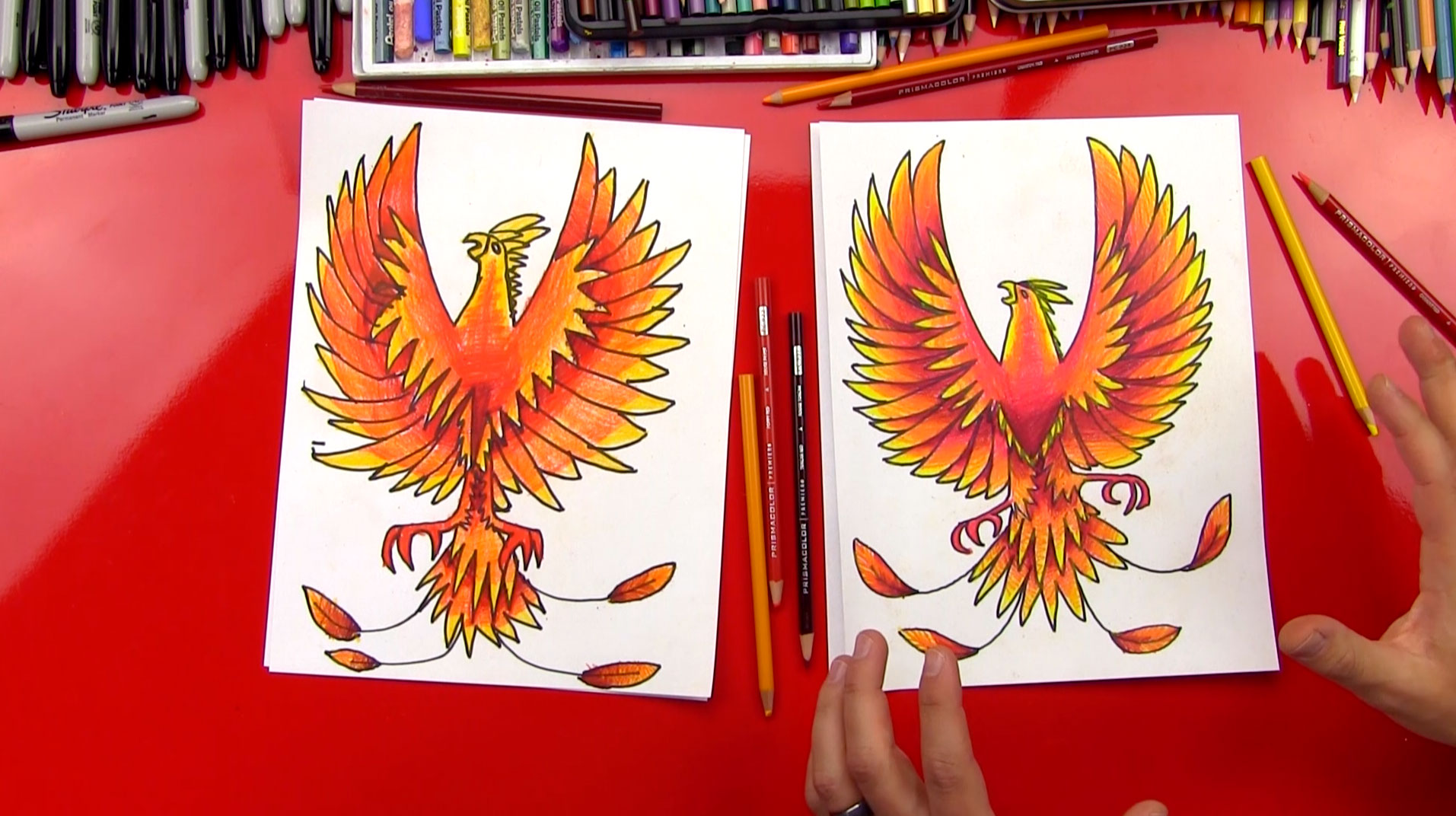 How To Draw A Phoenix - Art For Kids Hub -