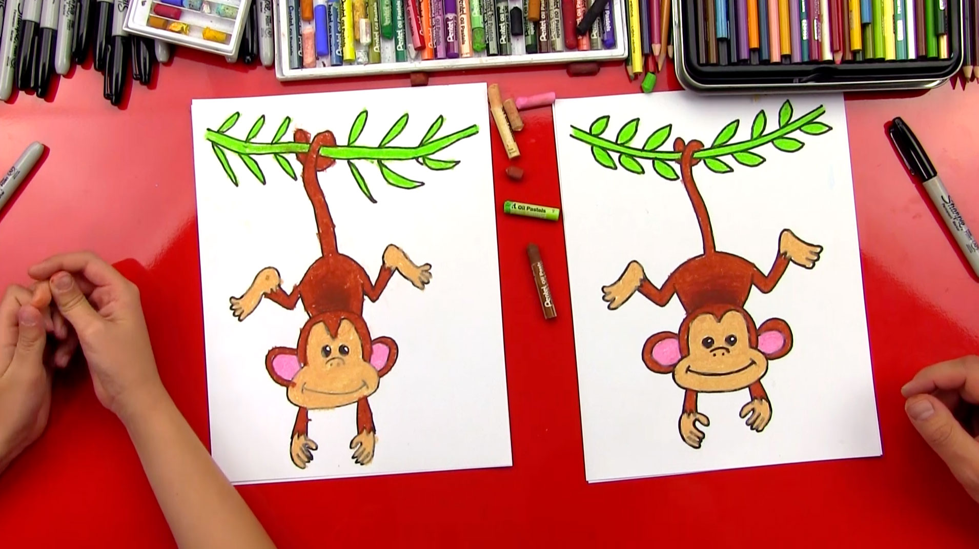 How To Draw A Monkey - Art for Kids Hub