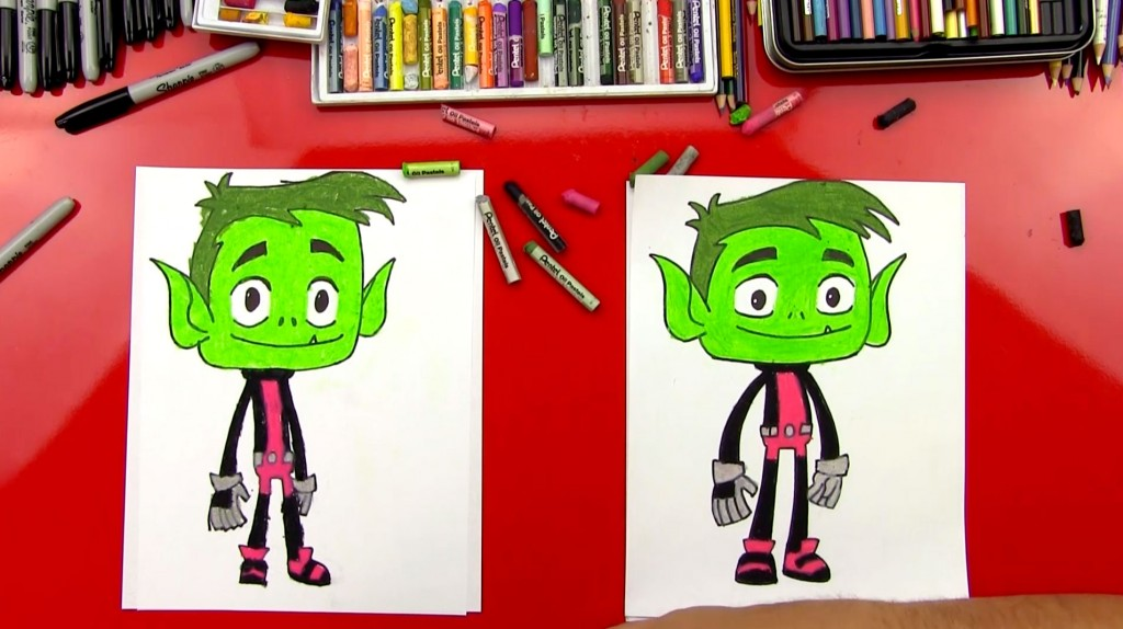 How To Draw Beast Boy From Teen Titans Go!