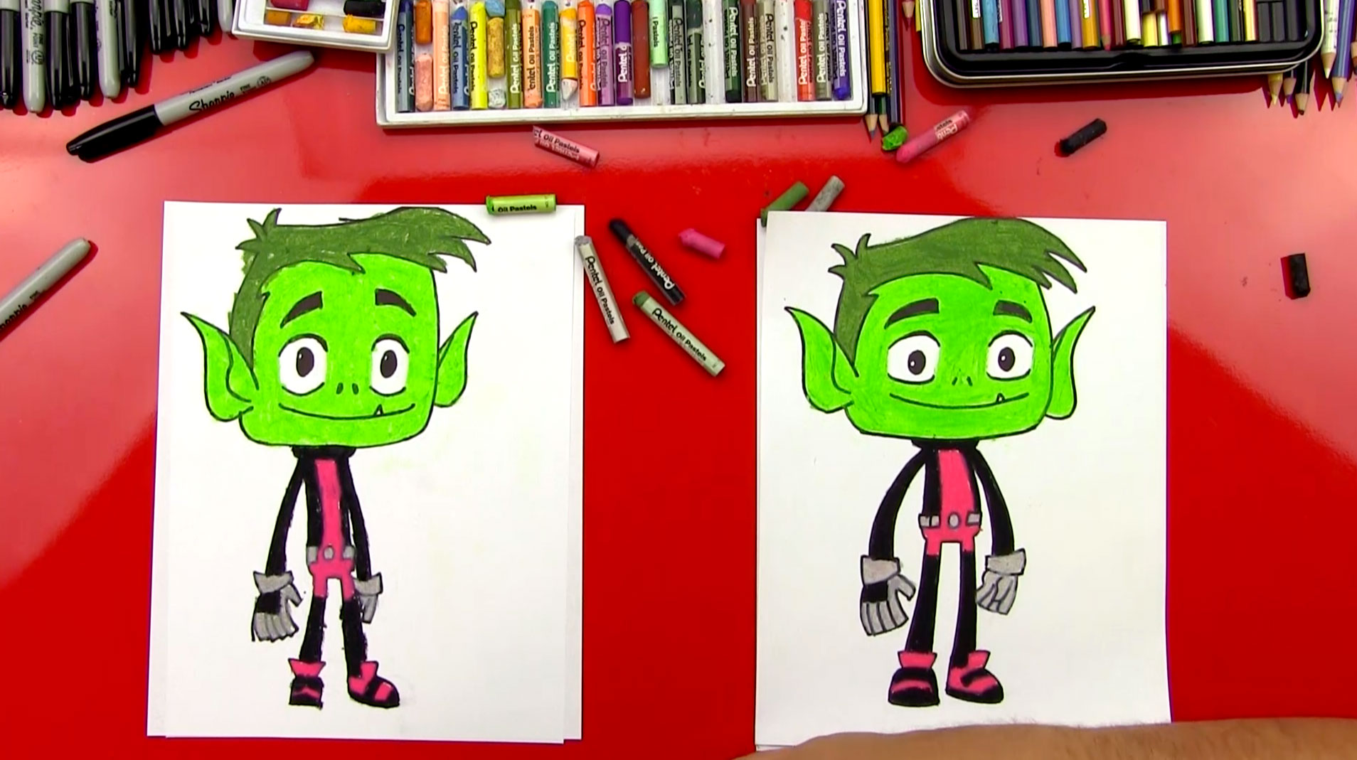 How To Draw Beast Boy From Teen Titans Go